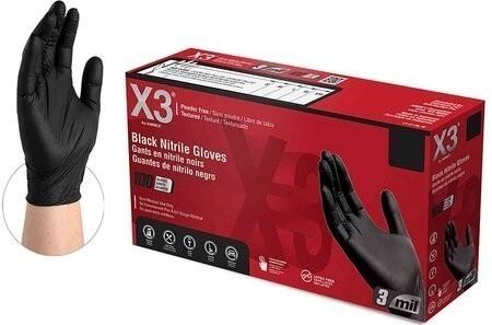 Ammex Black Nitrile Powder Free Industrial Gloves
