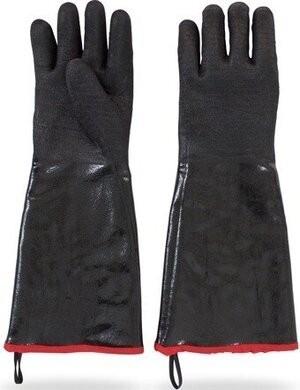 Safety Zone GNBJ-18-2R Black Fryer Chemical Resistant Gloves - Size Large