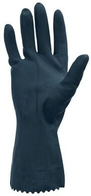 Safety Zone 28 Mil Flock Lined Black Neoprene Latex Blend Gloves