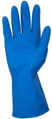 Safety Zone GRFL-1C  Flock Lined Chemical Resistant Latex Gloves