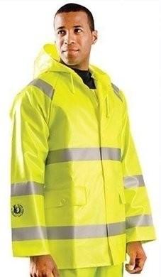 Occunomix HRC 2 FR Waterproof Hi Vis Rain Jacket with Hood - ANSI 3