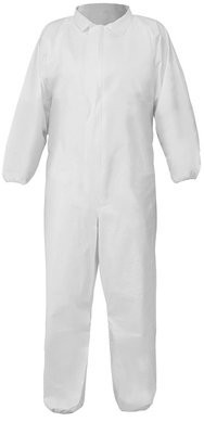 Global Glove FrogWear Premium Microporous PE Laminated Coveralls with Collar