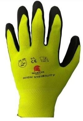 Spartan Hi Vis Foam Nitrile Palm Coated Gloves