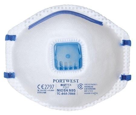 Portwest NIOSH N95 Mask With Valved Respirator