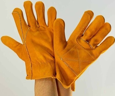 Advanced Gloves S413 Double Palm Patched Premium Cowhide Gloves