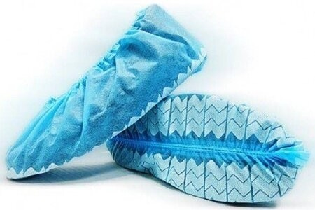 BlueMed WAVE Economy Non-Skid Shoe Covers - Made in North America - Bulk Pack