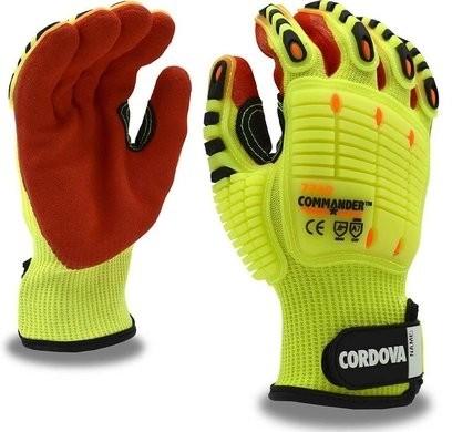 Cordova Commander 7749 Hi Vis Impact Gloves Cut Level A7