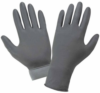Global Glove Panther-Guard 6 Mil Flock Lined Heavyweight Nitrile Powder Free Exam Gloves