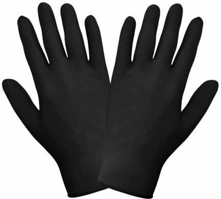 Global Glove 3.5 Mil Nitrile Powder Free Black Economy Gloves