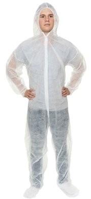 International Enviroguard Polypropylene Coveralls - Elastic Cuffs, Hood and Boot