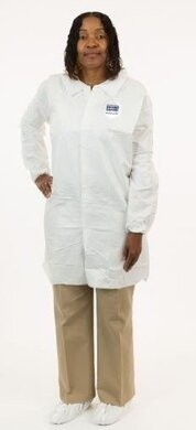 Enviroguard MP Tyvek Like Liquid Resistant  Lab Coats- No Pockets
