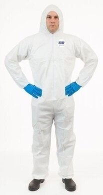 Enviroguard 50 Gram Liquid Resistant Microporous Coveralls - Hood & Elastic Cuffs