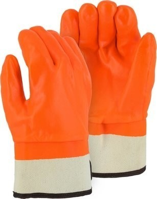 Majestic 3371 PVC Winter Work Gloves with Safety Cuff - Size Large