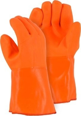 Majestic PVC Winter Grip Work Gloves with Sand Finish - Size Large