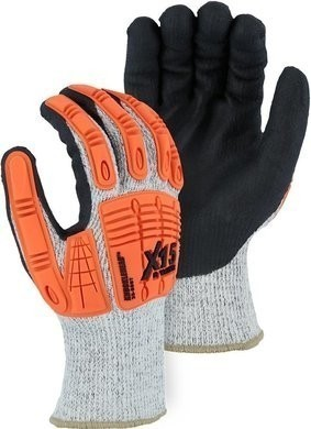 Majestic 35-5567 Winter Lined Cut-Less Watchdog® Glove with Foam Nitrile Palm and Impact Protection, ANSI A5