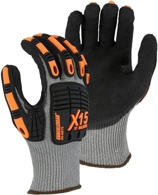 Majestic 35-5675 X-15 Cut-Less KorPlex Touchscreen Gloves - ANSI Cut Level A6