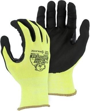 Majestic 35-7466 Hi Vis Cut-Less Watchdog Touchscreen Gloves - ANSI Cut Level A4