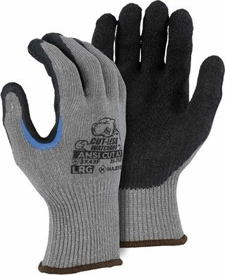 Majestic 35-7650 Cut-Less Watchdog Double-Dip Gloves - ANSI Cut Level A7