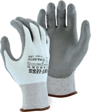 Majestic 37-3436 Cut-Less Diamond® Seamless Knit Gloves with PU Palm - Cut Level 3