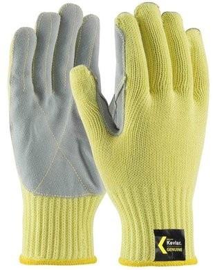 PIP 09-K300LP Kut Gard Medium Weight Kevlar Gloves With Cowhide Leather Palm
