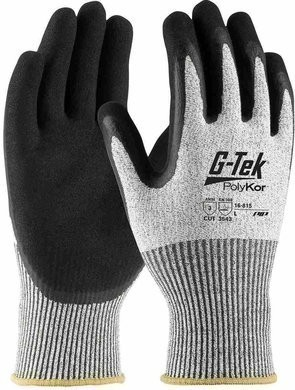 PIP G-Tek 16-815 Polykor Blended Double-Dipped Latex Coated Cut Level 5 Gloves With MicroSurface Grip
