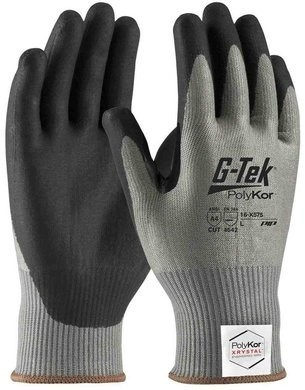 PIP G-Tek 16-X575 Polykor Xrystal Blended Neofoam Coated Cut Level 4 Touchscreen Gloves With Reinforced Thumb Crotch