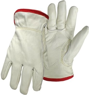 Boss Cowhide Leather Drivers Gloves With Thermal Waffle Knit Lining