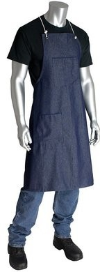 PIP 200-012 Reusable Denim Aprons With 2 Pockets