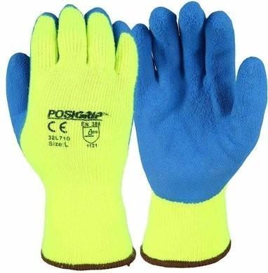 West Chester 32L710 PosiGrip Hi-Vis Thermal Knit Latex Coated Gloves