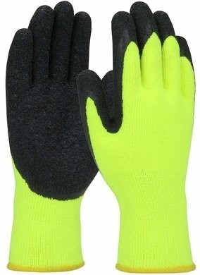 PIP 41-1425 Hi-Vis Seamless Knit Palm Coated Winter Lined Gloves