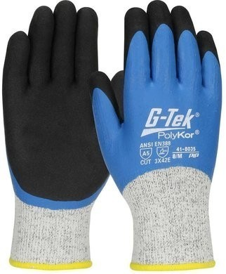 PIP 41-8035 G-Tek PolyKor Winter Lined Glove with Double-Dip Latex MicroSurface Grip