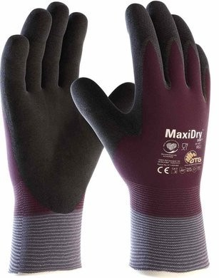 PIP 56-451 MaxiDry Zero ATG Water Resistant Gloves with Thermal Lining and Double-Dipped Nitrile MicroFoam Grip