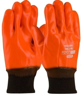 PIP 58-7303 ProCoat Hi-Vis Waterproof Insulated PVC Dipped Gloves - Large