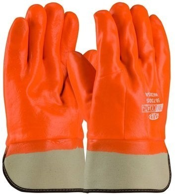 PIP 58-7305 ProCoat Hi-Vis Waterproof Insulated PVC Dipped Glove with  Safety Cuff