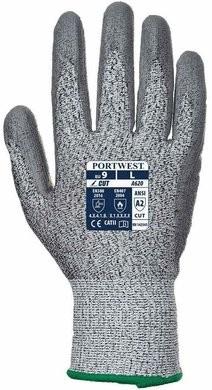 Portwest A620 HPPE Cut Level 2 PU Palm Gloves - Compare to PIP G-Tek 16-150