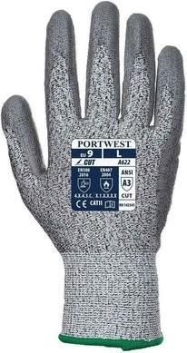 Portwest A622 HPPE Cut Level 3 PU Palm Gloves