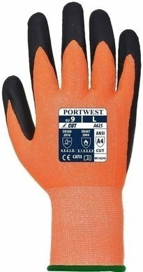 Portwest A625 HPPE Hi Vis Cut Level 4 PU Gloves