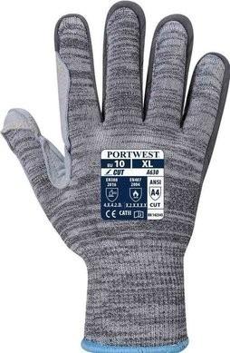 Portwest A630 Heat Resistant Razor-Lite Cut Level 4 Gloves - Leather Palm