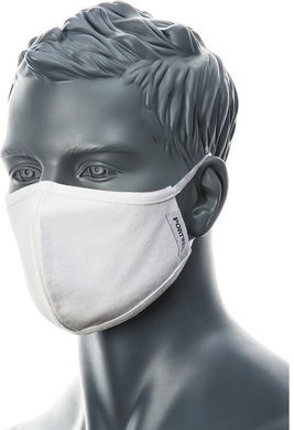 Portwest 2-Ply Antimicrobial Reusable 100% Cotton Face Mask