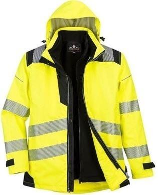 Portwest Waterproof Class 3 Hi Vis 3-in-1 Jacket