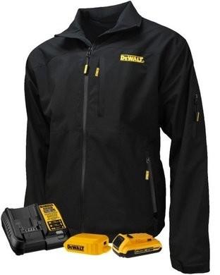 DeWalt Unisex Heated Structured Soft Shell Kitted Black Jacket
