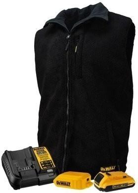 DeWalt Unisex Heated Reversible Fleece Kitted Black Vest