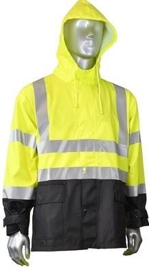 Radians Hi Vis Waterproof Rain Jacket with Detachable Hood - ANSI 3