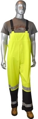 Radians Hi Vis Rain Bibs with Adjustable Suspenders