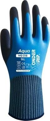 Wonder Grip WG-318 AQUA Double Latex Coated Waterproof Gloves
