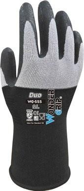Wonder Grip WG-555 DUO DuaLiner Nitrile Palm Coated Gloves