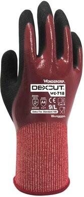 Wonder Grip WG-718 DEXCUT Triple Nitrile Coated Cut Resistant Level A4 Gloves