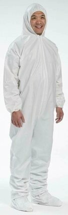 West Chester 3659 Microporous Coveralls with  Hood and Boot, Elastic Cuffs