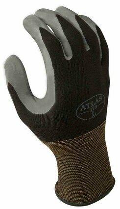Showa Atlas 370 Nitrile Gloves - Black