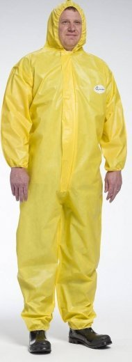 West Chester 3678B PosiUB Plus Yellow Coveralls with Hood - Tyvek Alternative